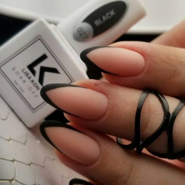 Black-nail-varnish