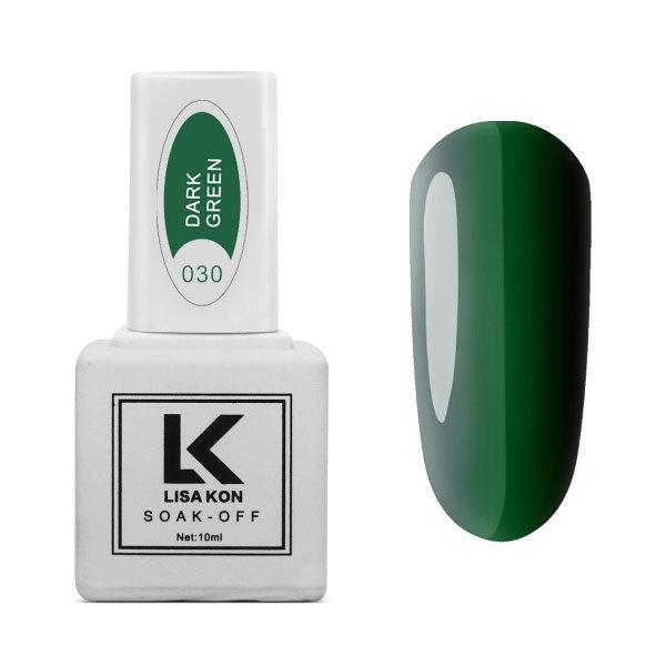 Gel-Polish-Dark-Green-Lisa-Kon