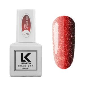 Gel-Polish-Dark-Metallic-Red-Lisa-Kon