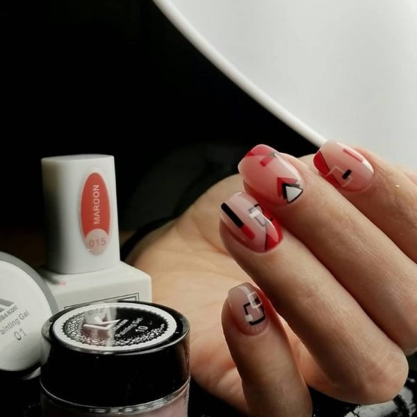 Maroon-nail-polish
