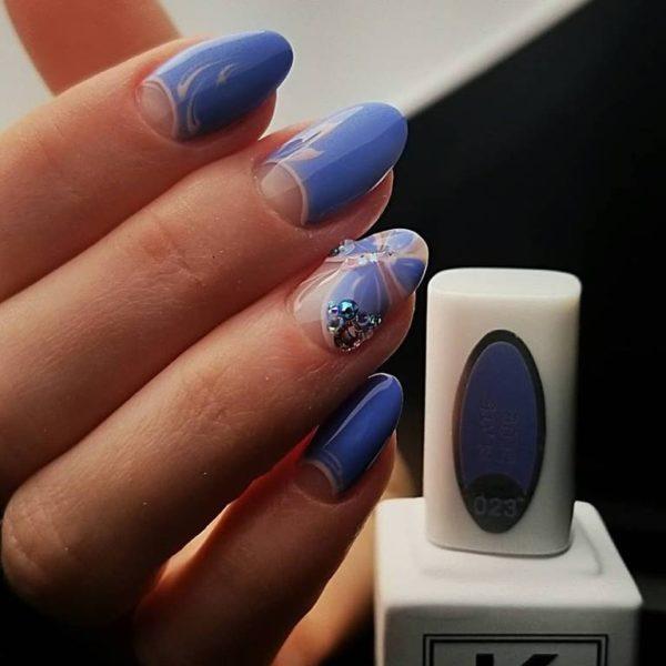 Slate-blue-nail-polish