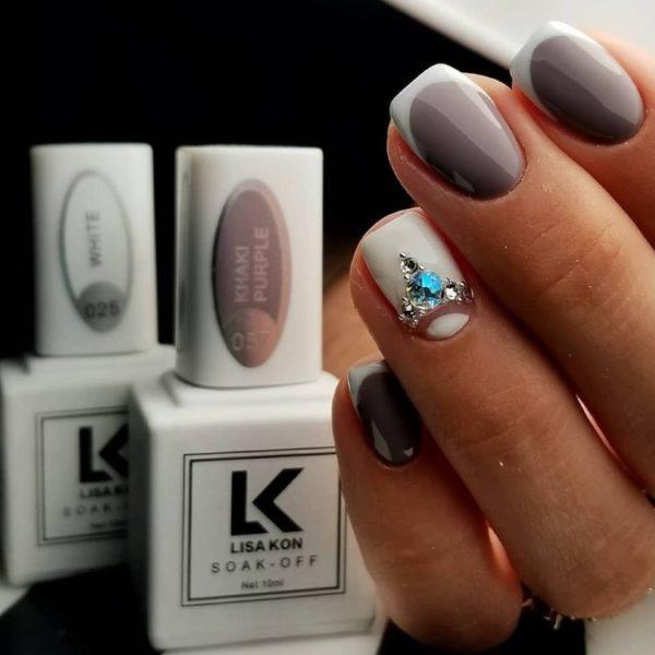 khaki-purple-nail-polish-with-white