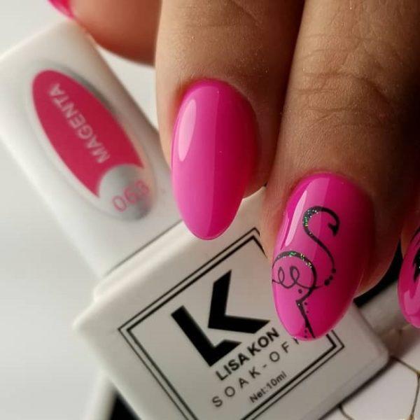 magenta-nail-varnish