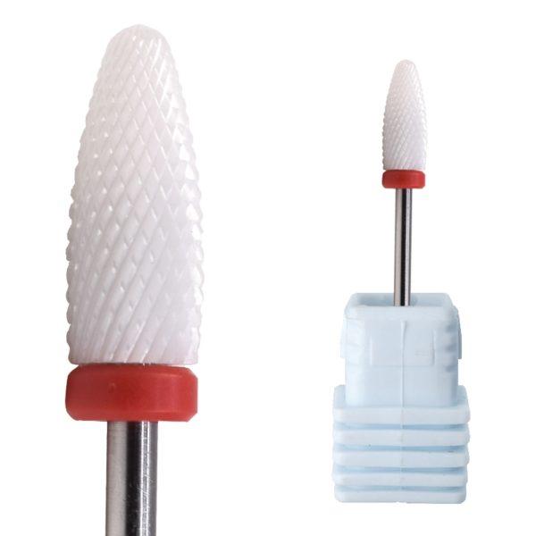 Ceramic flame bit nail art drill