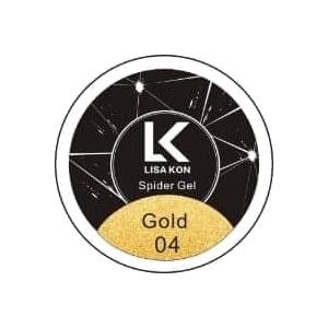 Gold-Spider-Gel-Nail-Art